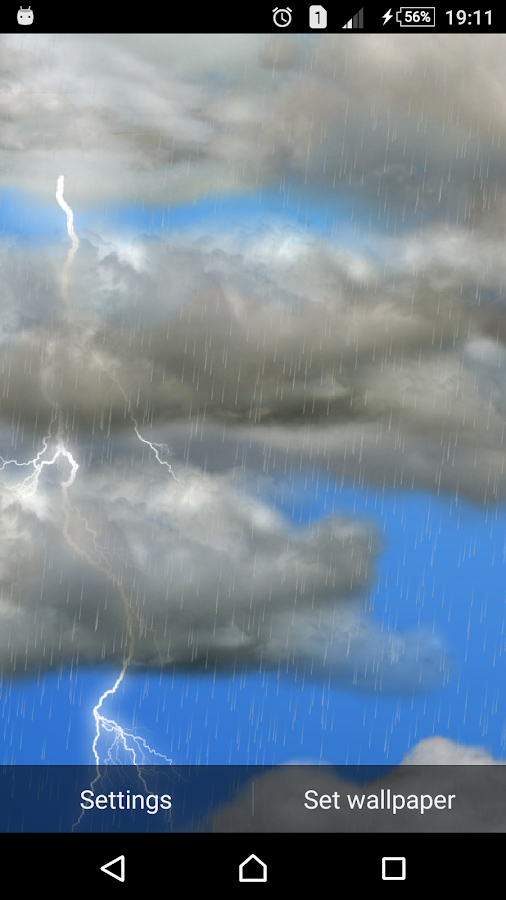 The real thunderstorm - LWP- screenshot