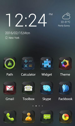 Black Gem Theme -ZERO Launcher