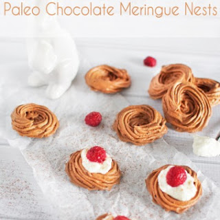 Paleo Chocolate Meringue Nests