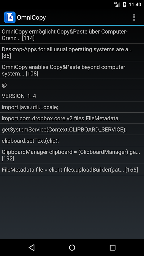 OmniCopy Cloud Copy & Paste- screenshot
