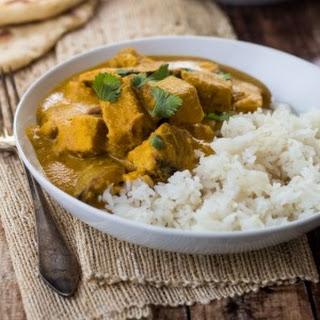 Creamy Cashew Indian Chicken Curry.