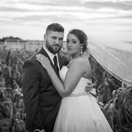 Fresh by Cameron  Cleland - Wedding Bride & Groom ( love, wedding, white, bride, groom, black )