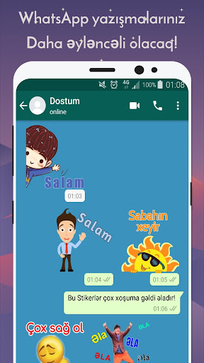 Azerbaijan Stickers for WhatsApp - WAStickerApps 12.2.06 screenshots 3