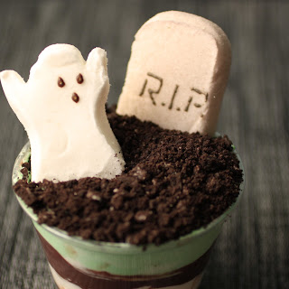 Graveyard Chocolate Pudding Cups