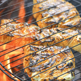 Grill basket halibut with maple teriyaki from Project Fire.