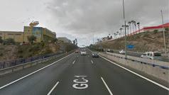 Autopista GC1 en sentido contrario a la altura de Telde. (Foto: Google Maps)