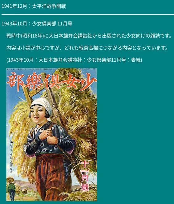 戦時中の雑誌