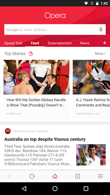 Opera browser - latest news - screenshot