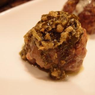 Bacon & Mozzarella Meatballs.