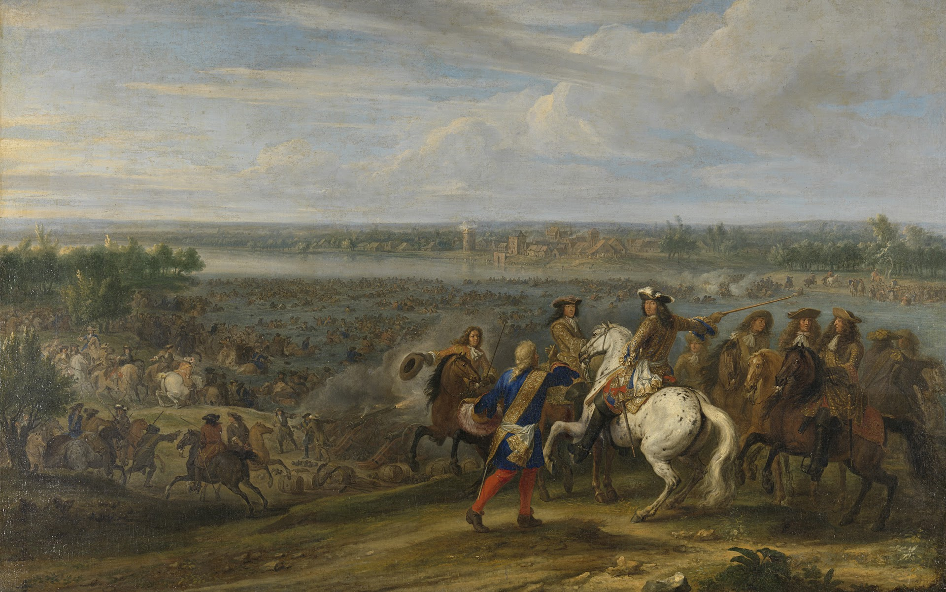 Louis XIV crossing the Rhine at Lobith, 12 June 1672. Adam Frans van der
