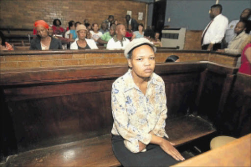 GUILTY       : Vinolia Siwa in the dock before she was sentenced to 12 years' imprisonment                                                 yesterday.            Photo: VeliNhlapo