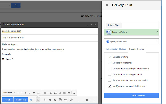 Delivery Trust® for Gmail