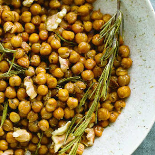 Baked Chickpeas with Toasted Walnuts, Rosemary, and Chili