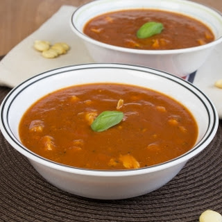 Quick Spicy Tomato Soup with Jamaican Red Mushroom Chili Peppers