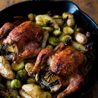 Cranberry BBQ Sauce Cornish Hens