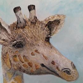 Giraffe by Rhonda Lee - Painting All Painting (  )