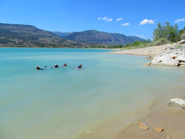 Cooling off in Joe's Valley Reservoir