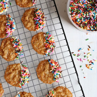 White Chocolate Oatmeal Lace Cookies.