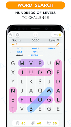 WordFind - Word Search Game apkpoly screenshots 1