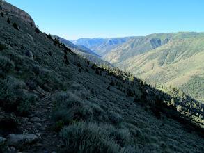 Photo: Steep sage-covered hillside