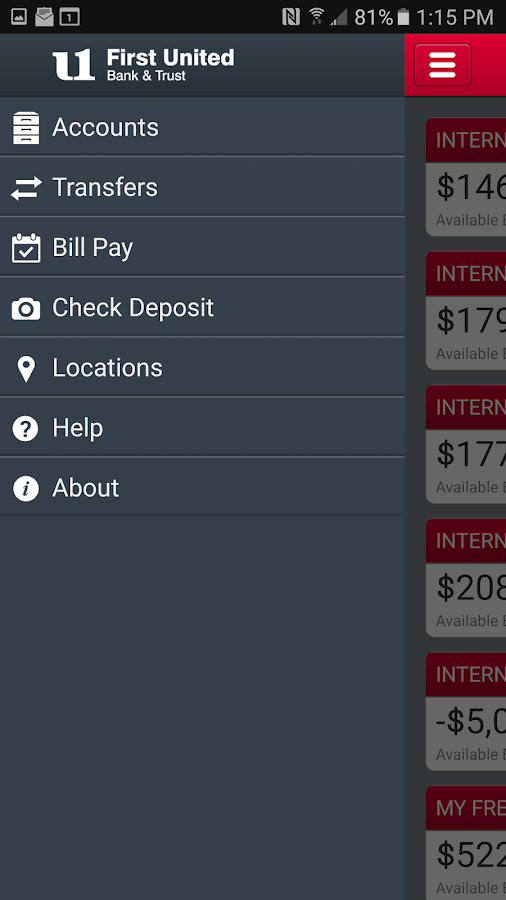 My Bank First United Mobile- screenshot