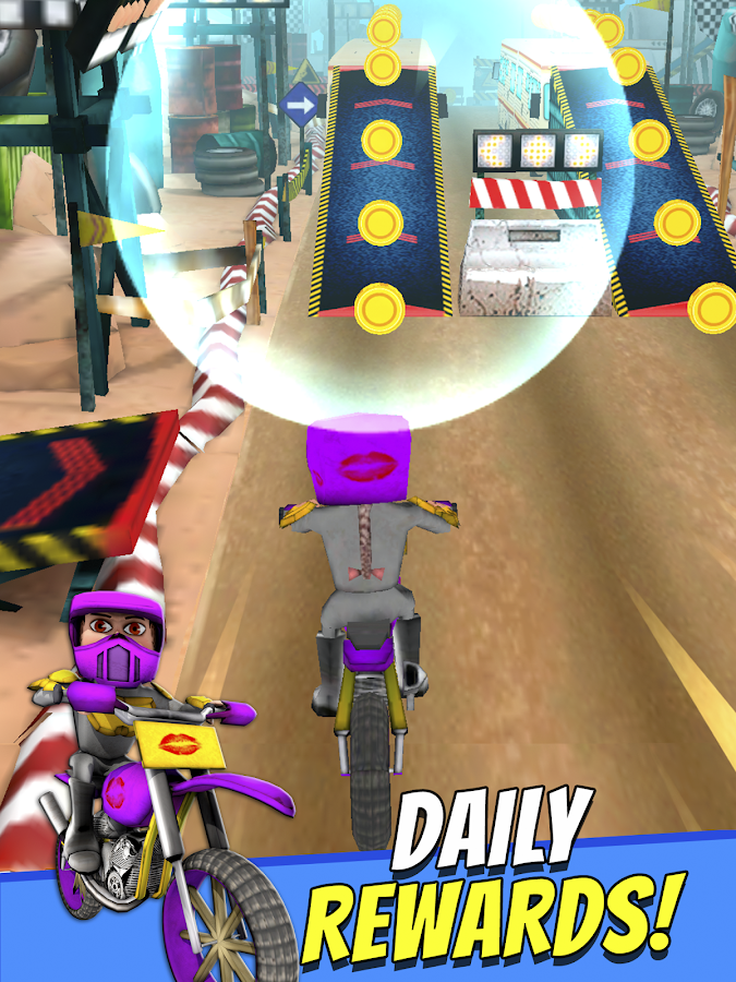 Cartoon Dirt Bike Runner- screenshot