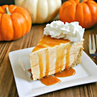 Frozen Pumpkin Pie Cheesecake.