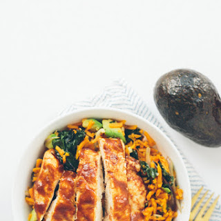 Red Kale and Sweet Potato Rice Bowls with BBQ Chicken