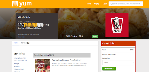 KFC Kenya App for PC