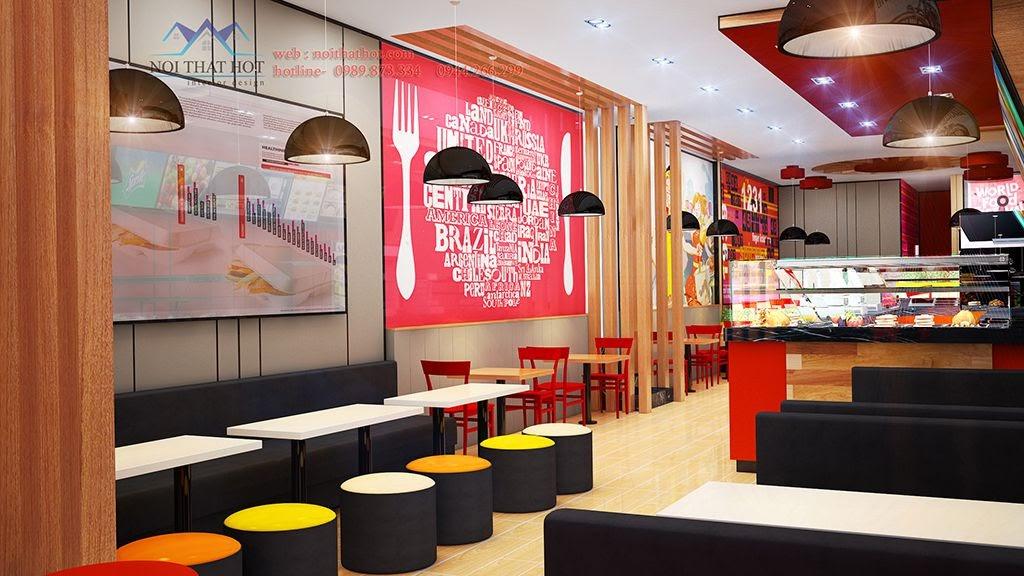 thiết kế cửa hàng đồ ăn nhanh