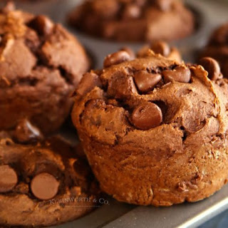Peanut Butter Chocolate Pumpkin Muffins.
