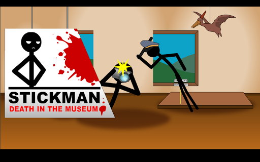 Stickman Crime at the Museum