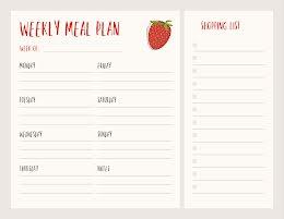 Strawberry Weekly Meal - Weekly Planner item