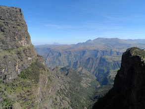 Photo: Trekking down from Imetgogo (the peak in the upper left), Simien Mountains National Park