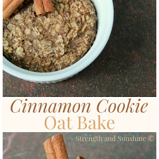 Cinnamon Cookie Oat Bake
