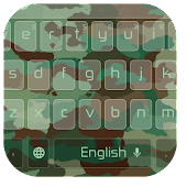 Army Camouflage Green Keyboard