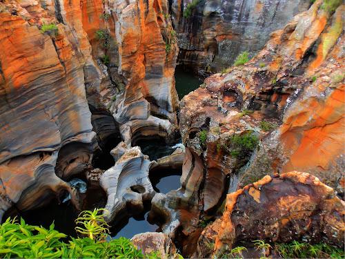 Potholes by Japie Scholtz - Nature Up Close Rock & Stone ( plant, water, stone, rock, circle, pwc79 )