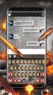 Bullets Guns Keyboard Theme - náhled