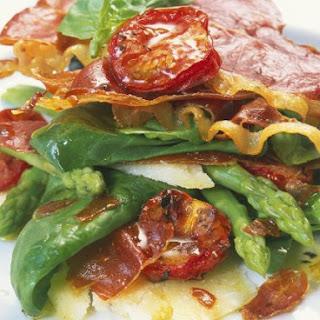 Ham and Green Leaf Salad