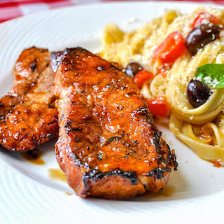 Honey Ginger Dijon Glazed Pork Chops.