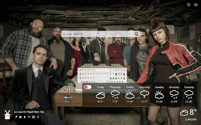 La Casa De Papel New Tab, Wallpapers HD