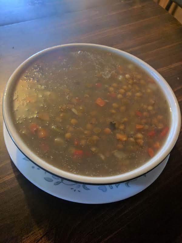 Big Pot Hot Soup, Lentils, Carrots Etc...