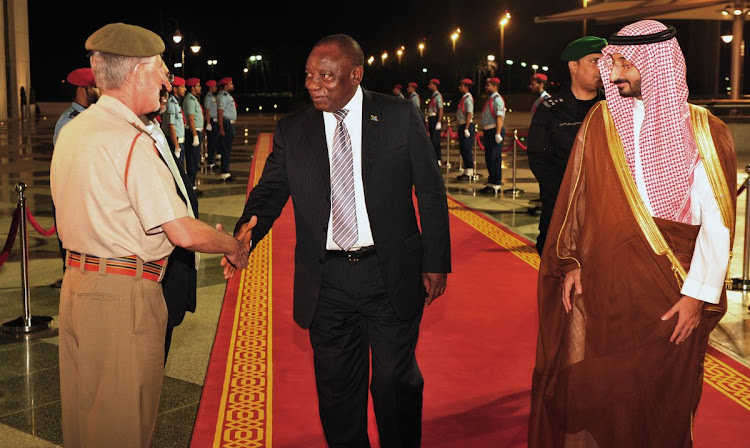South Africa President Cyril Ramaphosa arrives in Jeddah, for his State Visit to the Kingdom of Saudi Arabia on Thursday July 12 2018. 2 July 2018.
