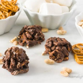Chocolate Covered Trail Mix Clusters.