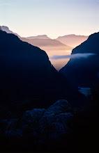 Photo: Sunrise at the hut