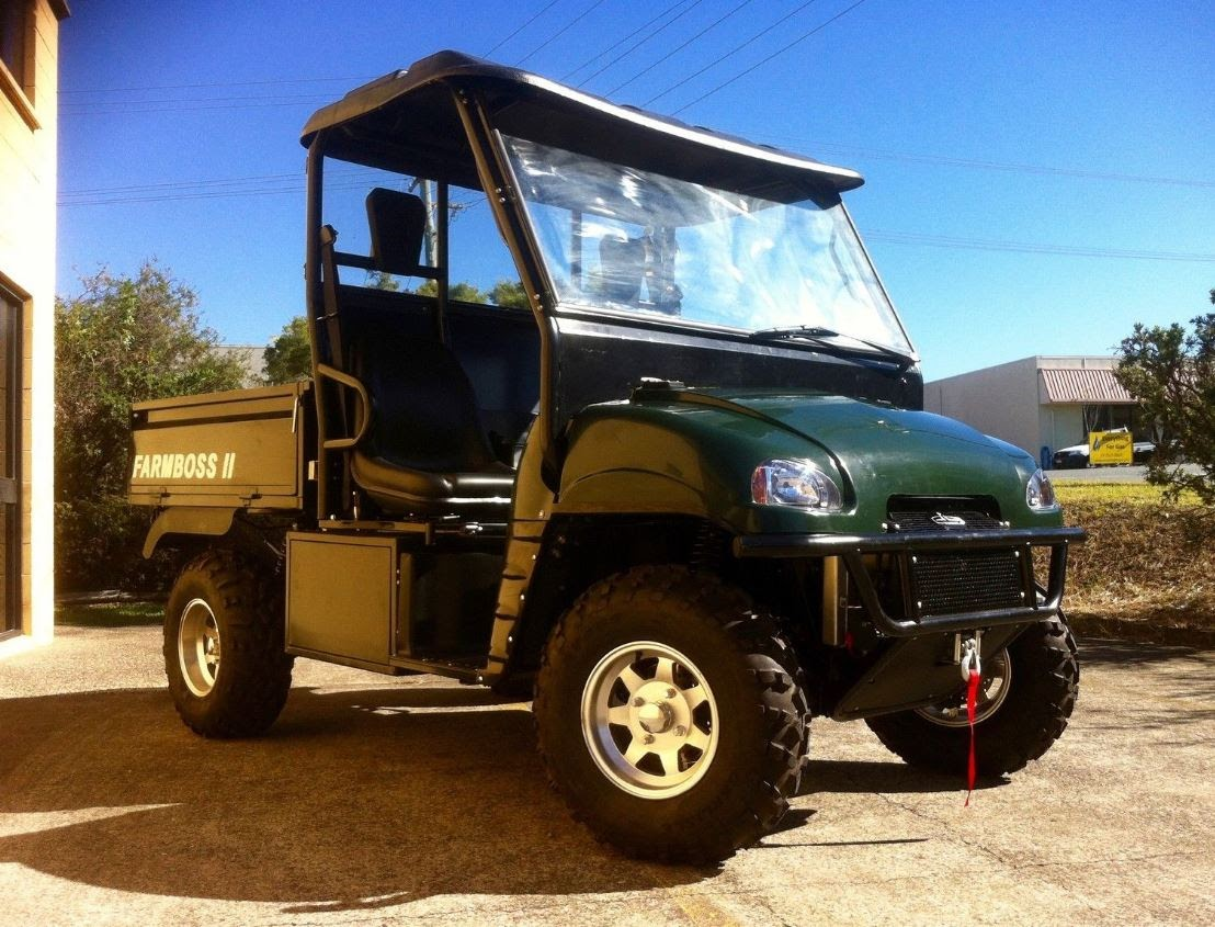 1000cc FarmBoss Daihatsu Diesel UTV 4x4 Utility Vehicle Side By Side Ute Green