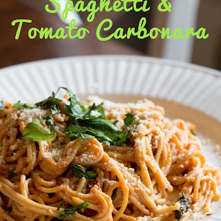 Spaghetti with Tomato Carbonara