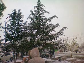 Photo: ¡Gran sorpresa cuando en el camino comenzó a nevar!