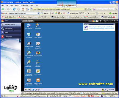 My LogMeIn Web Application