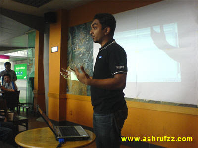 Gobala Krishnan giving his presentation